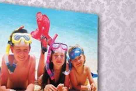 You Frame - 20x30 Personalised Printed Photo Canvas - Save 71%