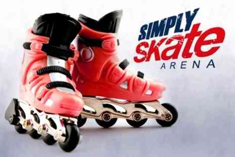 Simply Skate Arena - Roller Blading for Children's Party Package - Save 61%