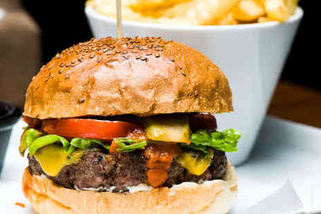The Drunken Stag Bar and Grill - Homemade Burger or Ranch Skewer with Beer or Wine Each for Two - Save 54%