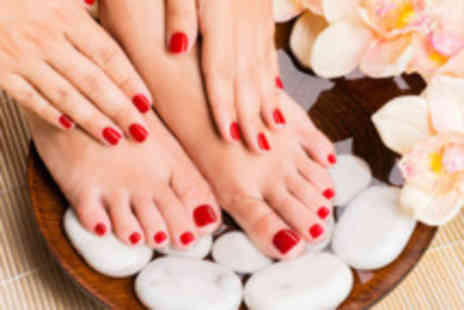Marias Hair And Beauty - Shellac manicure & pedicure - Save 81%