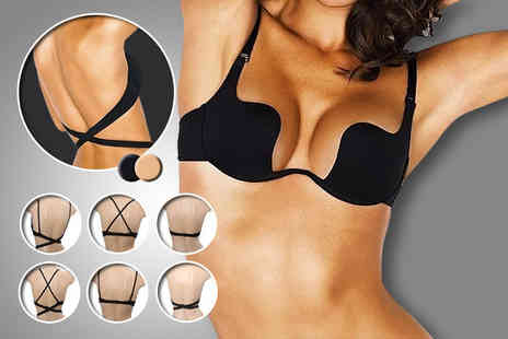 Suga Rush Love -  7 in 1 deep plunge bra in nude or black - Save 64%