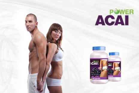 Power Acai - One Month Course of Acai Berry Supplements - Save 74%