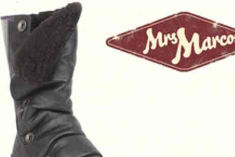 Mrs Marcos - Pair of Blowfish faux fur lined boots - Save 62%