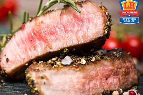 The White Horse - 12oz Sirloin Steak on the Stone with Chips and Glass of Wine Each for Two - Save 51%