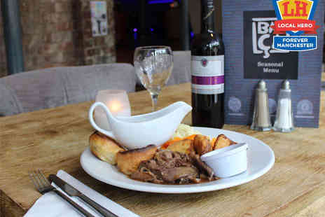 Barca Bar and Restaurant - Sunday Roast with Glass of Wine or Bottle of Beer Each for Two - Save 49%
