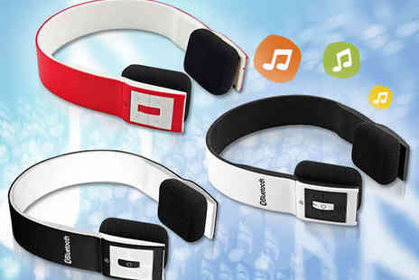Stylish Wireless Headphones - Tech4Life Bluetooth Headphones in Red, Black, or White - Save 62%