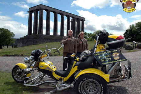Trike Tours Scotland - Trike Tour of Edinburgh, Loch Lomond, Stirling, Perthshire, South Queensferry, or Callander with Photo Shoot for Two - Save 52%