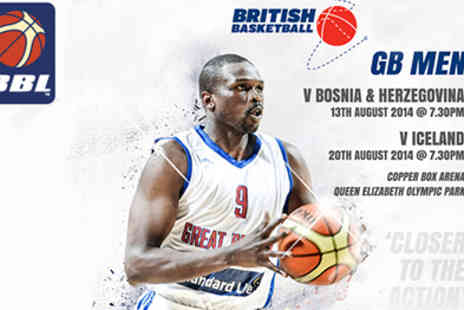 British Basketball League -  EuroBasket 2015,GB v Bosnia & Herzegovina and GB v Iceland  - Save 50%
