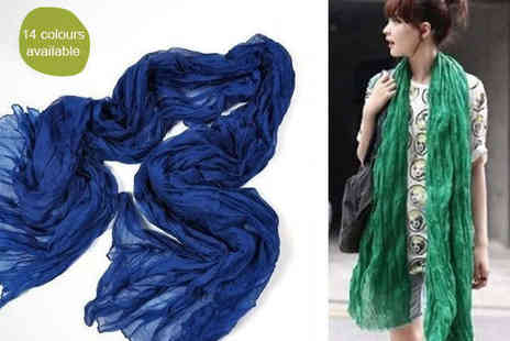 E ville - One Scarves in Choice of 14 Colours - Save 57%