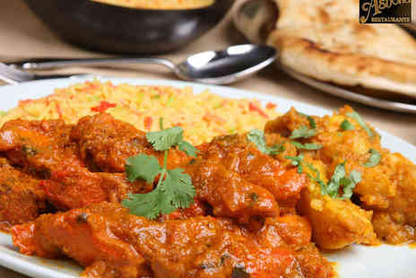 Ashoka Restaurants - Takeaway Curry for Two with Rice and Naan Bread from Choice of Eight Restaurants - Save 64%