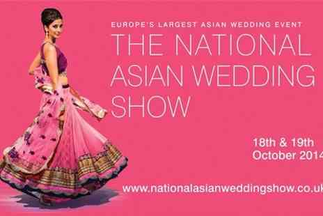 The National Asian Wedding Show -  Entry to The National Asian Wedding Show For Two - Save 55%