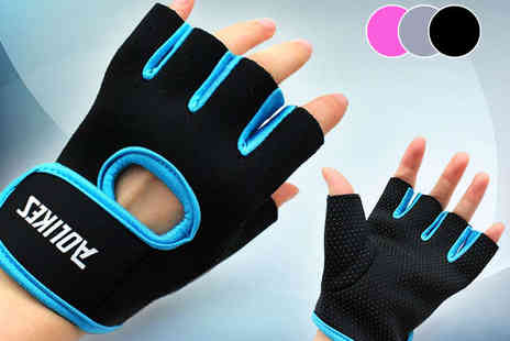 E ville - Gym Gloves in Choice of Colour with Delivery Included - Save 47%