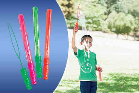 Zuvo - Four giant bubble wands - Save 60%