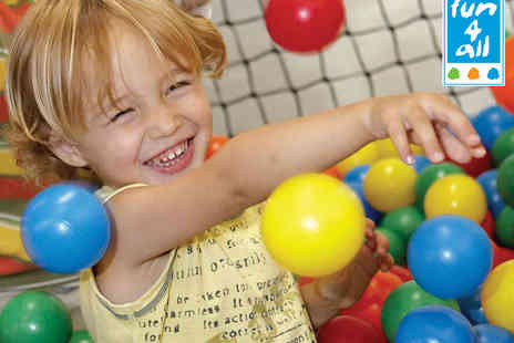 Fun4All - One Visit to Soft Play Centre for Two Children and Two Adults - Save 58%