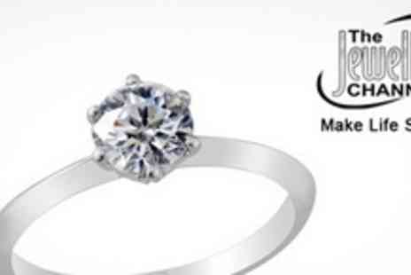 The Jewellery Channel - Three Silver Rings with Swarovski Crystal Inset - Save 78%