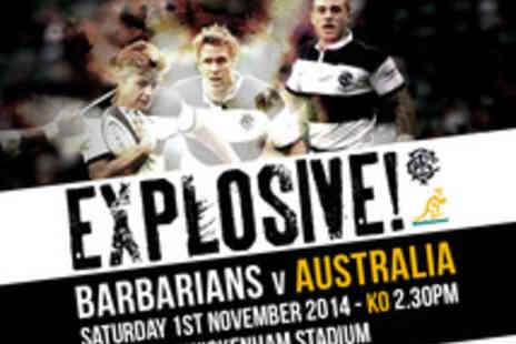 International Sports Investments - Tickets to See Barbarians v Australia Rugby Match - Save 7%