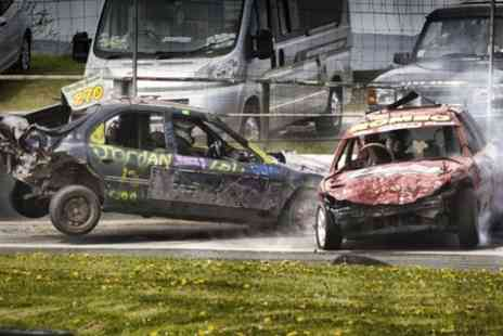 Buxton Raceway - Ticket to Banger and Stock Car Racing For Two  - Save 54%