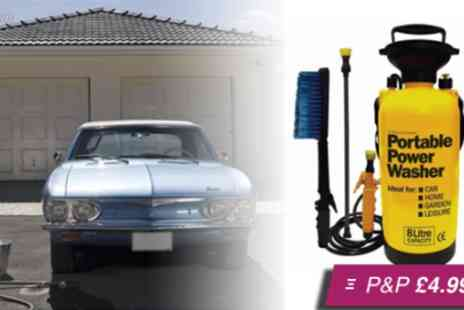 E BuzzWorld - Hand powered portable pressure washer including accessories - Save 62%