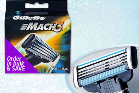 Nifty Spot - 12  Gillette Mach3 Replacement Razor Blades - Save 65%