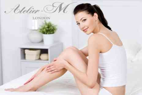 Atelier-M - Eight Sessions of Laser Hair Removal on One Extra Large Area, Medium and Small Area - Save 77%