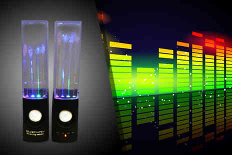 Excess Retail - Pair of LED dancing water speakers - Save 57%