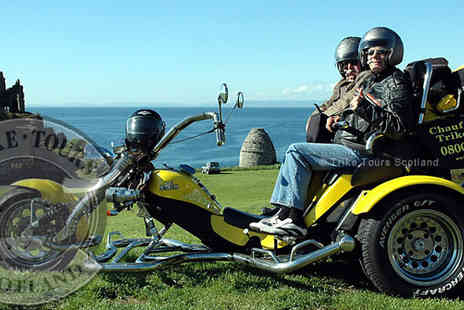 Trike Tours Scotland - Chauffeur driven trike tour and photo shoot for two - Save 61%