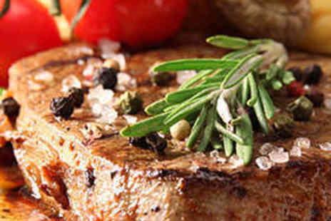 Queens Head Hotel - 12oz Steak Meal with a Glass of Wine Each for Two  - Save 52%
