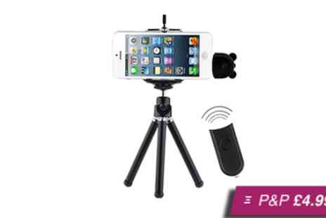 Stock Nation - Wireless remote shutter and tripod for iPhone 4 & 5 - Save 70%