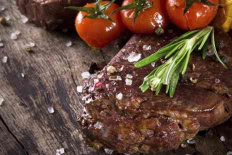 The White Horse - Sirloin Steak and Wine For Two - Save 43%