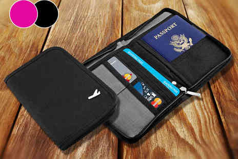 Travel Wallet for Peace of Mind - One Travel Wallet for Cards Passports, and Documents - Save 50%