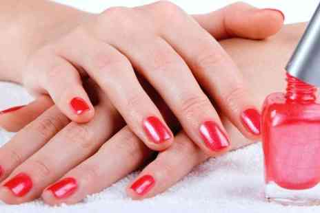 Luxe Tan and Nails - Shellac or Minx Nails With File and Polish  - Save 52%