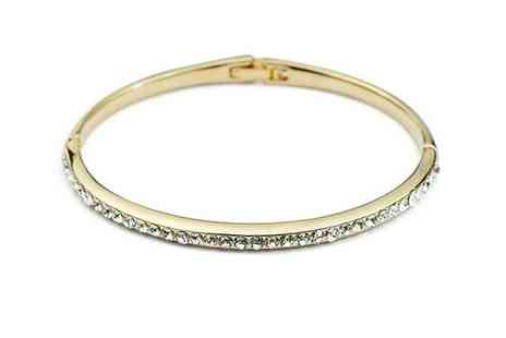Crystal Crush - Gold Plated Cuff - Save 75%