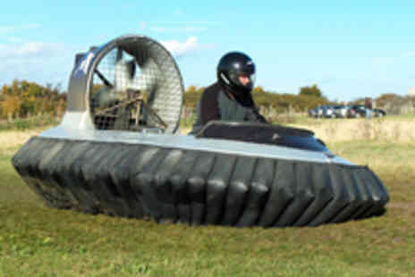 Hovercraft Adventures - Five Laps in a Hovercraft Including On Site Training - Save 63%