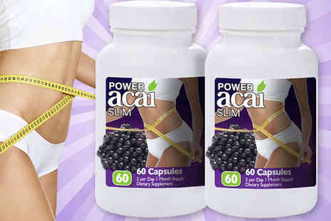 Power Acai - Two Month Supply of Power Acai Slim Capsules - Save 77%