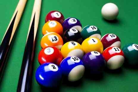 The Ball Room - Two Hours of Pool or Snooker and Nachos Platter For Four  - Save 57%