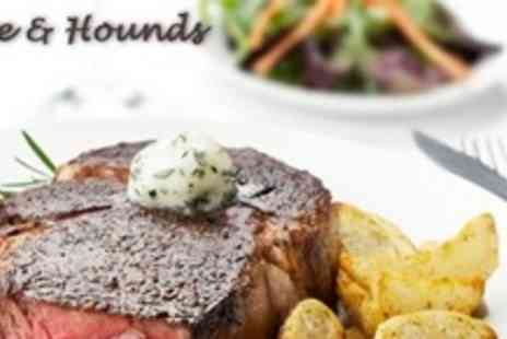 The Hare and Hounds - Three Course Meal of British Fare For Four - Save 65%