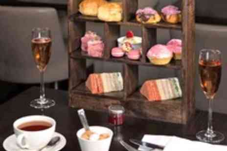 City Cafe  - Central London Afternoon Tea with Pink Champagne for Two - Save 52%