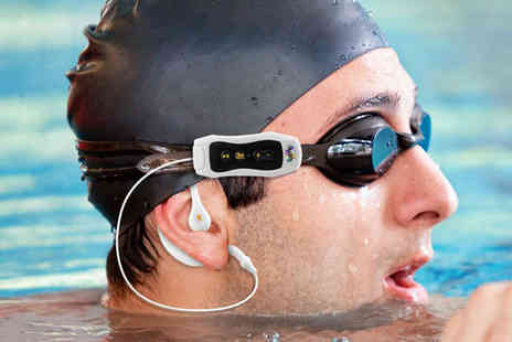 Nifty Spot - Waterproof 4GB MP3 Player and Earphones in Black or White - Save 66%