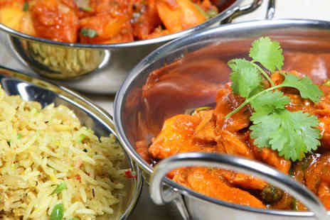 Eastern Eye - Starter, Main Course, Side Dish, and Naan Bread or Rice for Two - Save 50%