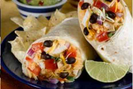 Mexway - Two Burritos, Two Sides, and Two Drinks - Save 59%