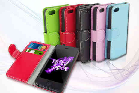 Nifty Spot - Wallet Case for iPhone in a Choice of Colours - Save 84%