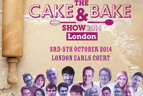 The Cake and Bake Show - Adult  Ticket to The Cake & Bake Show - Save 41%