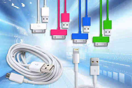 Nifty Spot - Extra Long Three Metre USB Cable for iPhone 4/4S, iPad 2/3, and iPod; iPhone 5 and iPad mini; or Android - Save 92%