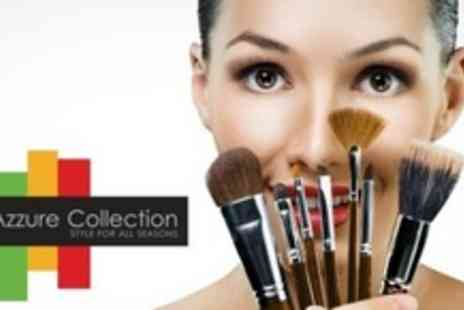 Azzure Collection - 18 Piece Professional Make Up Brush Kit - Save 67%