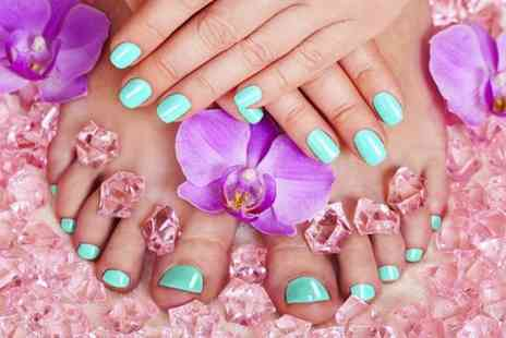 I Bar - Shellac Manicure or Pedicure  or Both - Save 53%