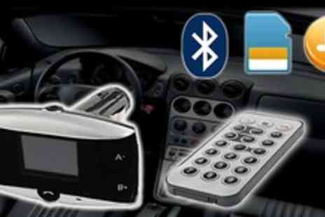 Bluebud - Discover the world of Hands free with an all in one Bluetooth car kit with FM Transmitter & Remote - Save 72%