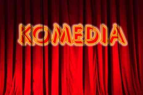 Komedia - Krater Comedy Club Ticket Plus Burger  - Save 49%