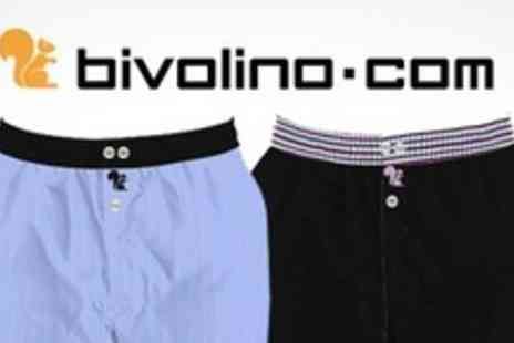 Bivolino.com - Two Pairs of Cotton Bespoke Boxer Shorts - Save 62%