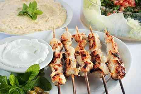 Afendi restaurant and cafe - Three Course Lebanese Meal For Two  - Save 53%