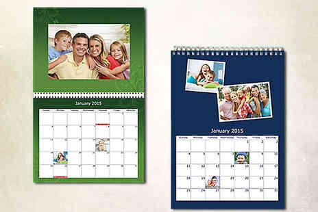 Personalise Your Calendar - Personalised Wall Photo Calendar - Save 62%